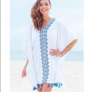 Cabana Life 50+ UV Embroidered Tassel Cover Up S